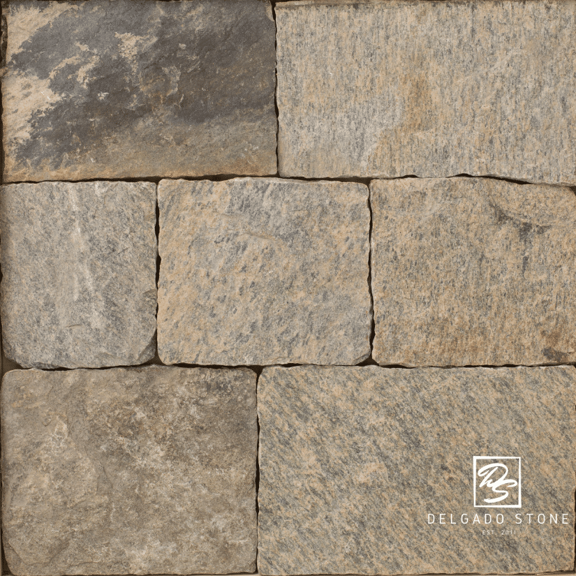 Nutmeg Ridge Square and Rectangle Natural Stone Swatch