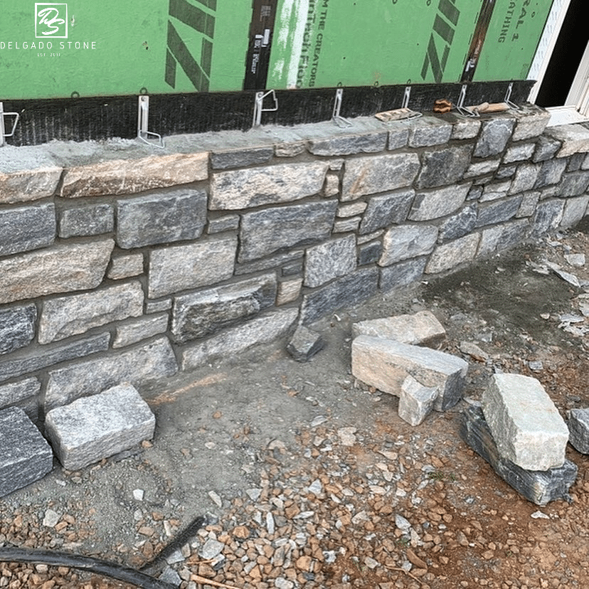 Black Ash and Liberty Hill Blend  Natural Stone Siding