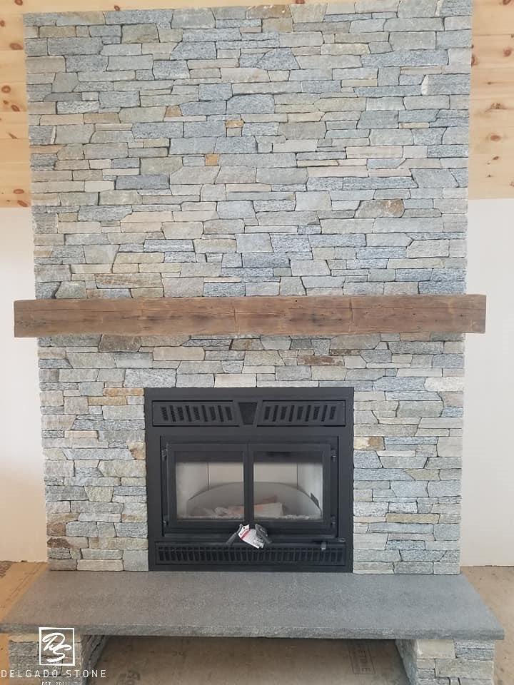 Connecticut Blend Ledgestone Fireplace