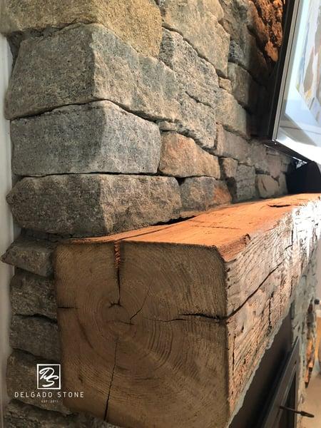 CT Blend Ledge Fireplace Close Side