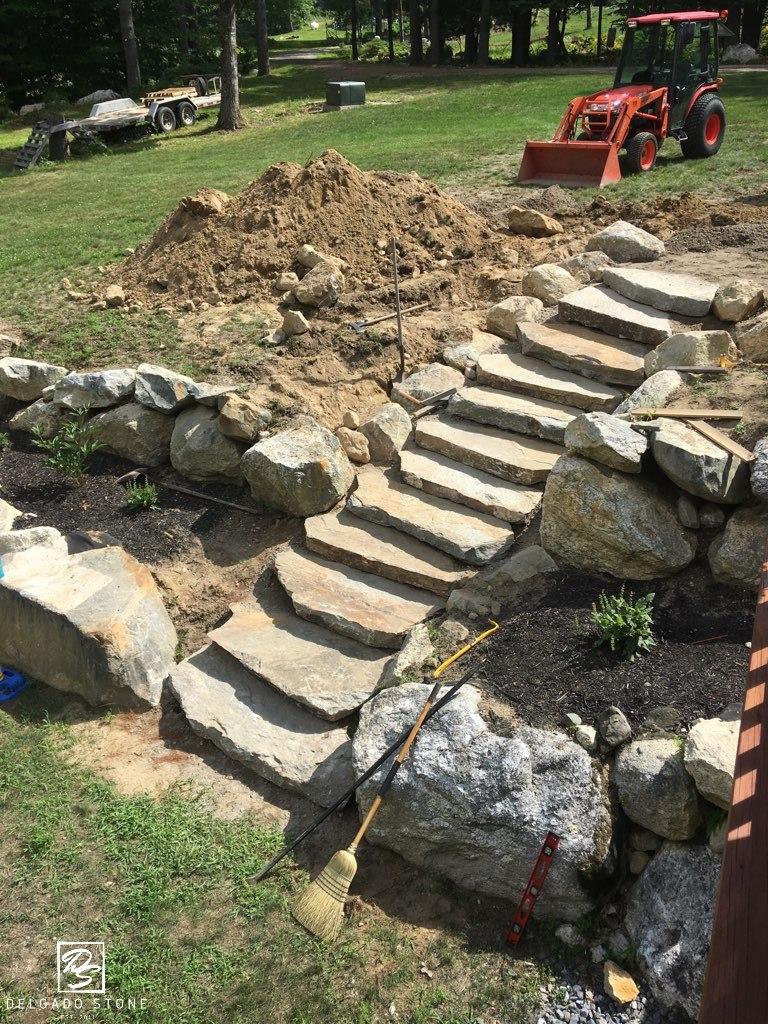 Colonial Tan Quarry Steps