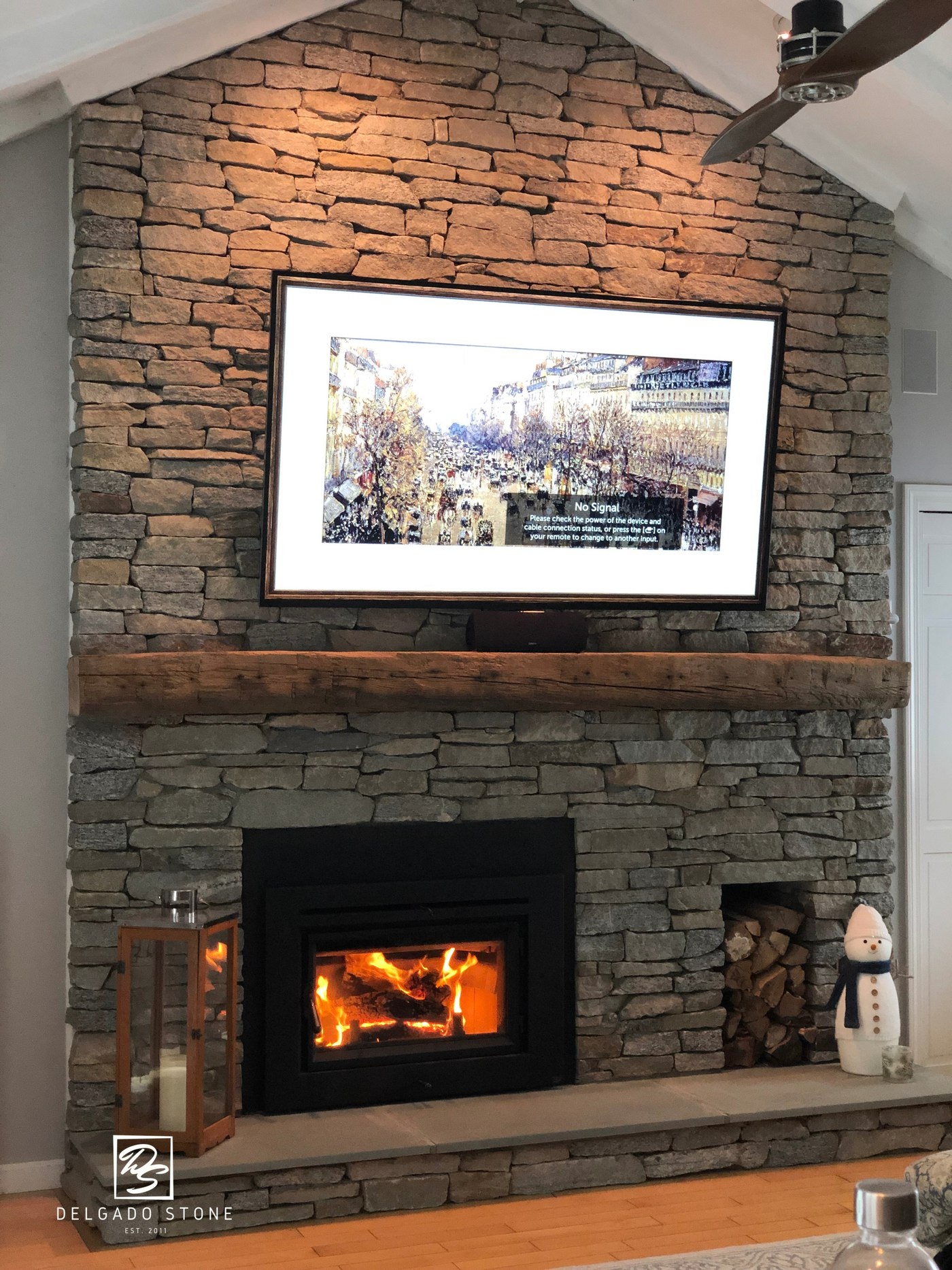 Connecticut Blend Natural Stone Fireplace
