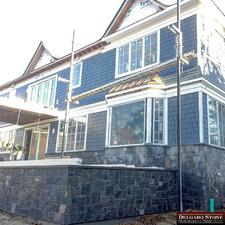 Greenwich Blue Stone Siding