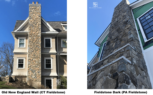Fieldstone Chimney