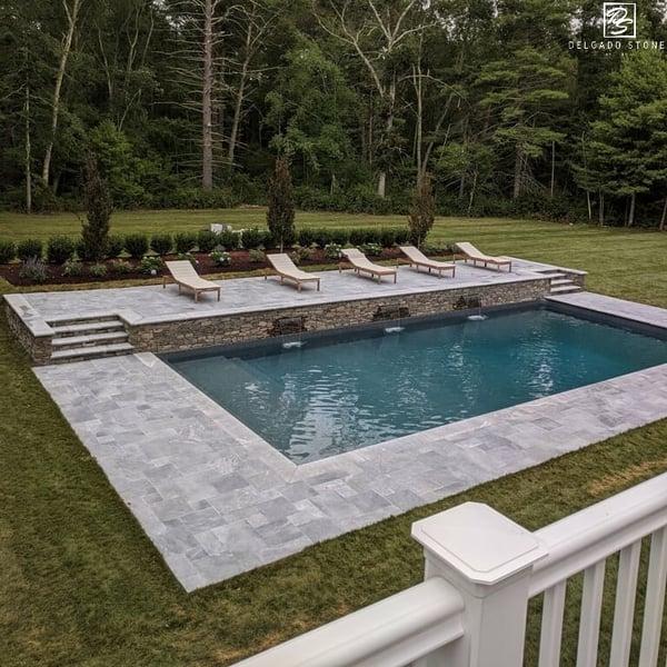 Fieldstone Dark Ledge Pool Project