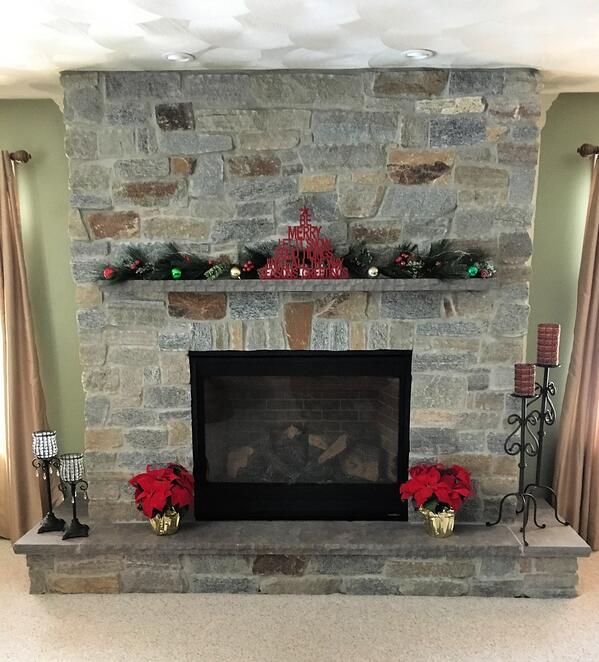 Holiday Fireplace Decor