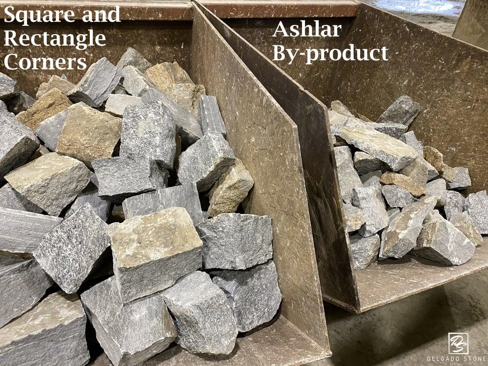 Metal Bins full of Natural Stone