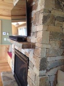 Veneer Stone Fireplace