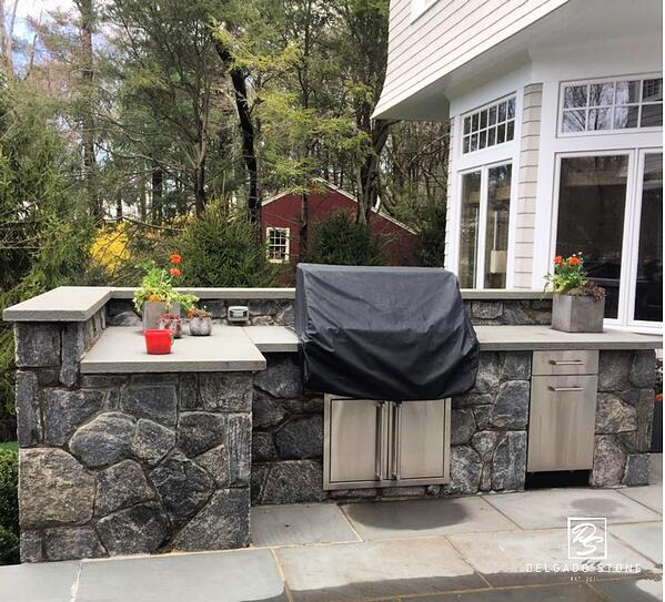 Liberty Hill Stone Veneer BBQ