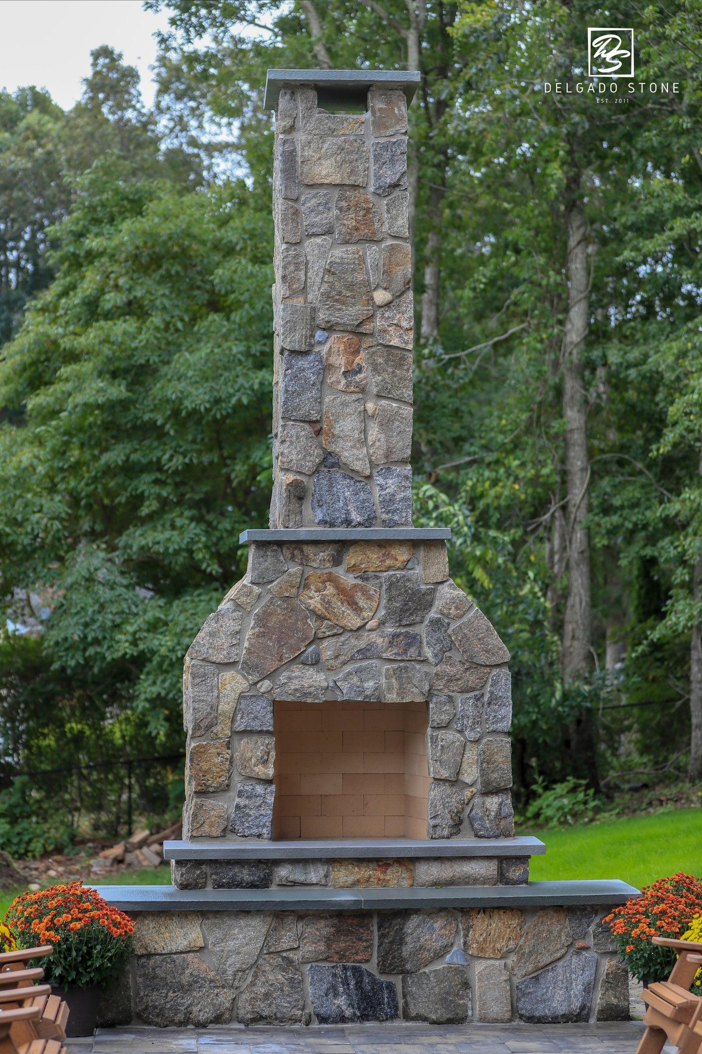 Montauk Blend Mosaic Fireplace