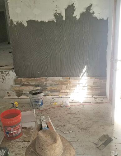 Installing Stone Panels