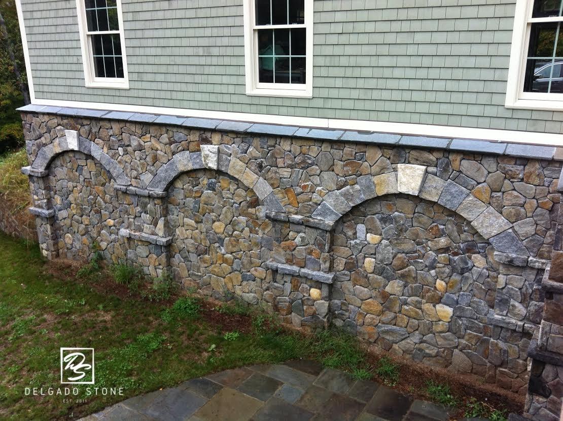 Split Fieldstone Mosaic Natural Stone Siding
