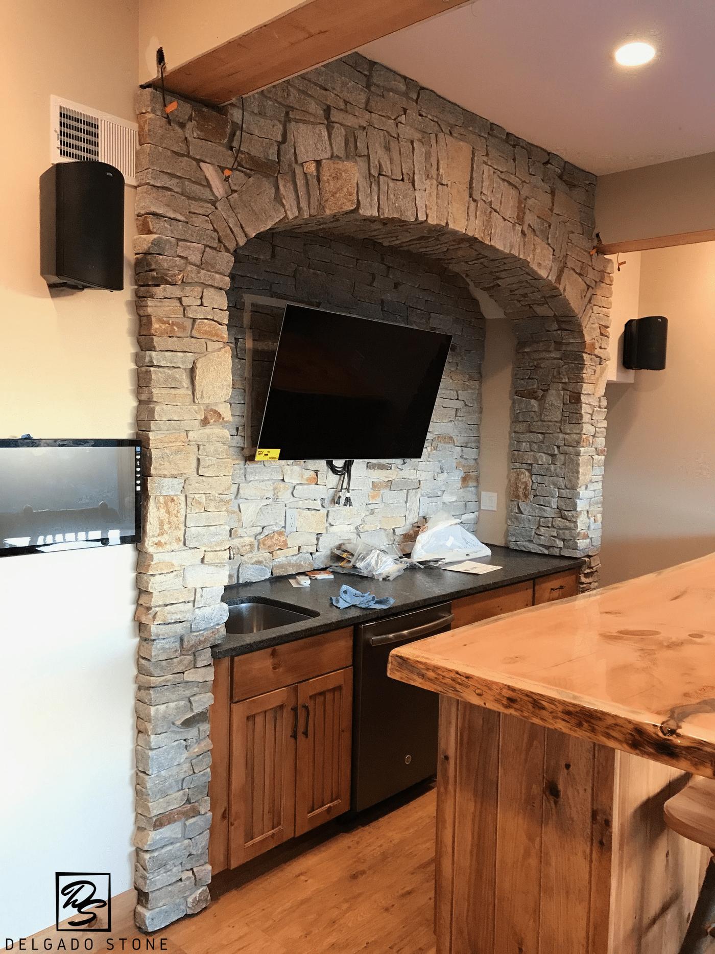 Spruce Mountain Ledge Natural Stone Kitchen