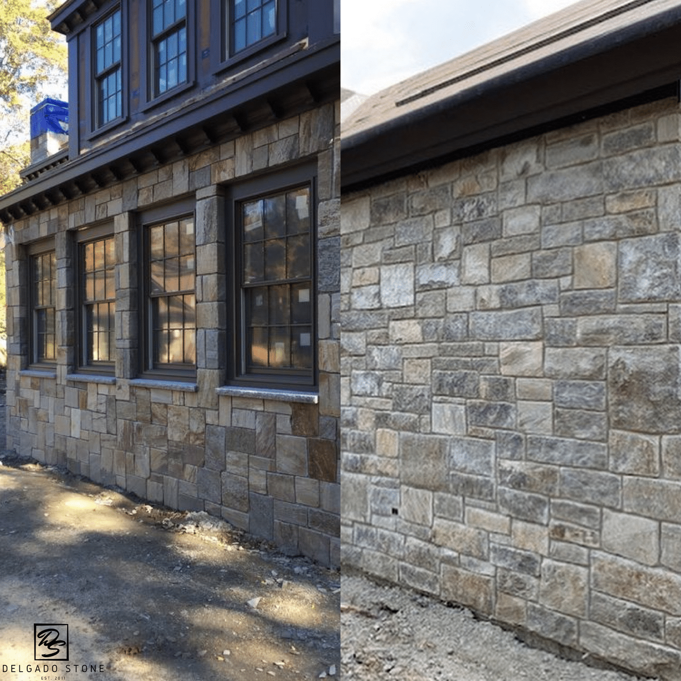 Installed Full Bed Squares and Rectangles and Thin Stone Veneer Squares and Rectangles